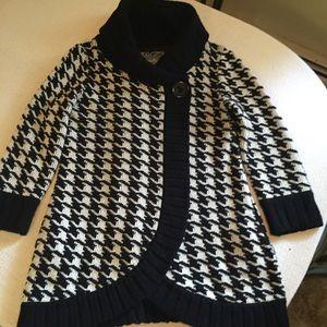 Kimchi Blue houndstooth sweater jacket, M